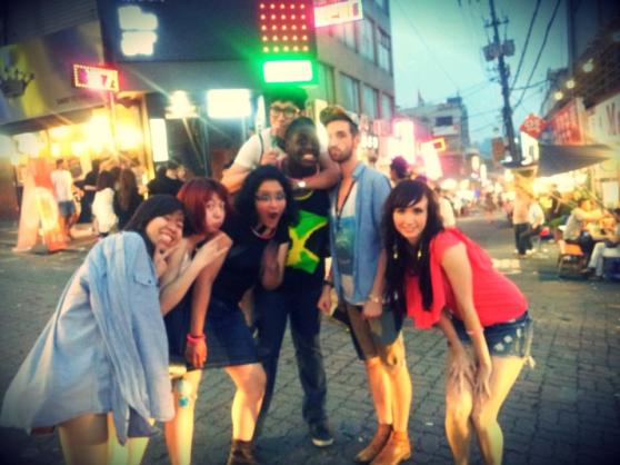 "Partying on ""the Hill"" in Itaewon :)"
