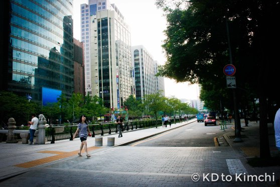 Walking near Jonggak Station