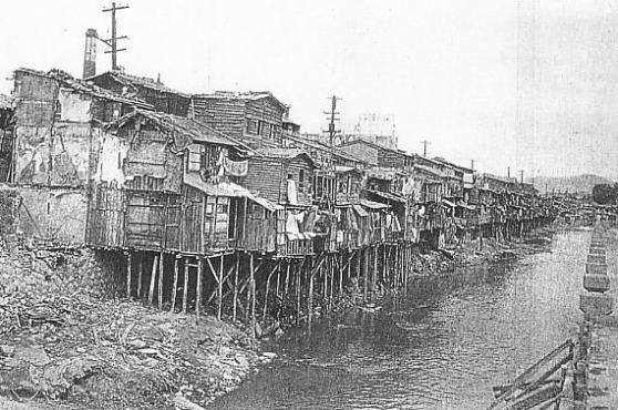 Cheonggyecheon during the Korean War