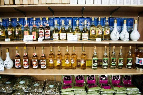 North Korean liquors for sale ($15-$50/bottle)