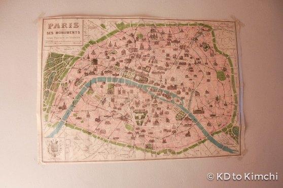 Vintage map of Paris - I like!