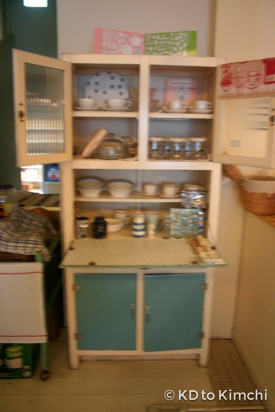 A little blurry - cabinet next to the kitchen