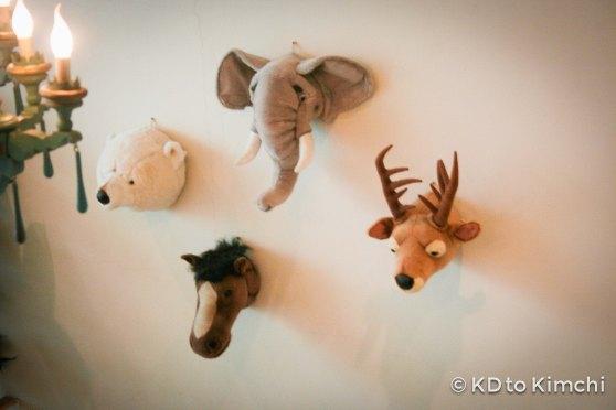 """Animal heads"" on the wall"