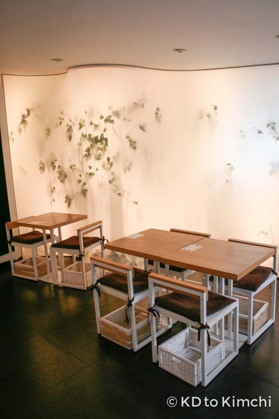 Tables in the front