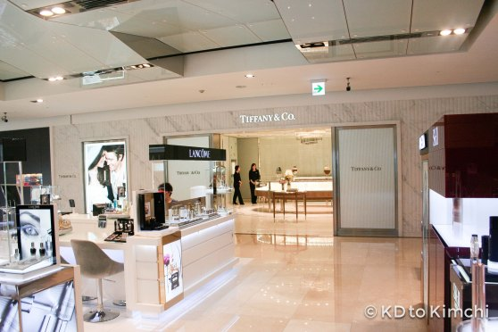 Tiffany & Co inside the Hyundai Department Store