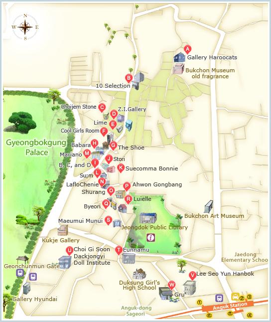 Map of Samcheong-dong (Photo: Visit Korea)